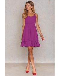 Trendyol - Purple Bottom Frill Dress - Lyst
