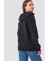 NA-KD - Basic Zipped Hoodie Black - Lyst