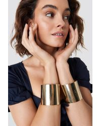 NA-KD - Metallic Double Arm Cuff Gold - Lyst