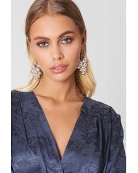 NA-KD - Metallic Multi Globe Drop Earrings - Lyst