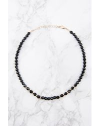 NA-KD - Beaded Black Necklace - Lyst