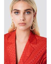 NA-KD - Metallic Asymmetric Hoop Earrings Gold - Lyst