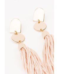 NA-KD | Metallic Flat Tassels Earrings | Lyst