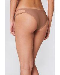 NA-KD - Multicolor Strap Bikini Bottom Dusty Dark Pink - Lyst