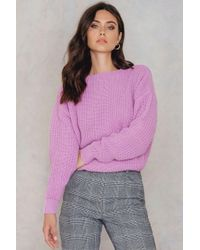 Glamorous - Purple Cosy Jumper - Lyst