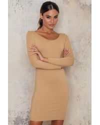 Passion Fusion | Brown Crisscross Back Bodycon Dress | Lyst
