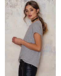 Rut&Circle - Gray Emma Tee - Lyst
