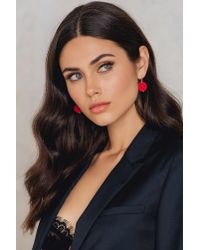 NA-KD | Red Round Ball Earrings | Lyst