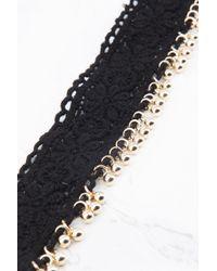 NA-KD - Black Crochet Choker With Pendants - Lyst
