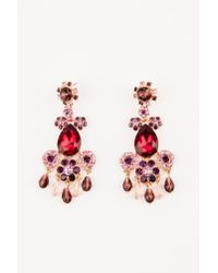 NA-KD - Red Hanging Ruby Crystal Earring - Lyst