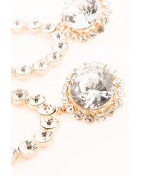 NA-KD - Metallic Double Circle Rhinestone Earrings Gold - Lyst