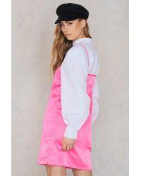 NA-KD - Pink Neon Slip Dress - Lyst