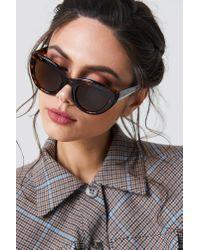 NA-KD - Multicolor Cat Eye Sunglasses Turtle - Lyst