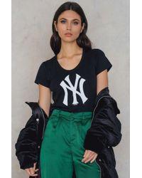 47 Brand - Black New York Splitter Scoop Tee - Lyst