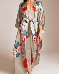 Meng - Multicolor Silk Satin V-wrap - Lyst