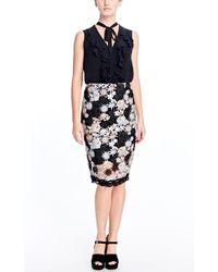 Nanette Lepore   Black Lucky Pencil Skirt   Lyst