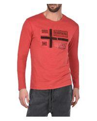 Napapijri | Red Long Sleeve T-shirt for Men | Lyst