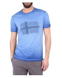 Napapijri | Blue Short Sleeve T-shirt for Men | Lyst