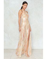 Nasty Gal - Metallic Sequin Maxi Dress Sequin Maxi Dress - Lyst