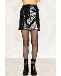 Nasty Gal - Black Karina Mini Skirt - Lyst