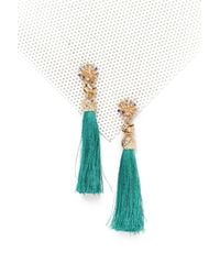 Nasty Gal - Green Drop The Beat Tassel Earrings Drop The Beat Tassel Earrings - Lyst