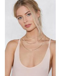 Nasty Gal - Metallic Into Office Layered Necklace - Lyst