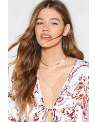 Nasty Gal - Metallic Triple Layer Chain Necklace Triple Layer Chain Necklace - Lyst