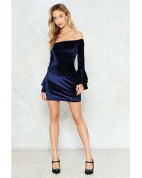 Nasty Gal - Blue Double Ruffle Mini Dress Double Ruffle Mini Dress - Lyst