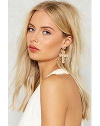 Nasty Gal   Metallic Elena Cross Earrings Elena Cross Earrings   Lyst