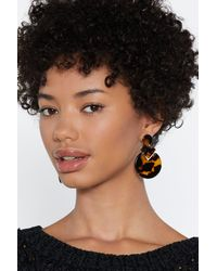 """Nasty Gal - Brown """"to Shell With That Tortoiseshell Earrings"""" - Lyst"""