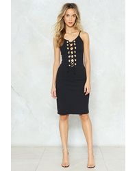 Nasty Gal - Black Lace Up Bodycon Dress Lace Up Bodycon Dress - Lyst