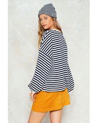 Nasty Gal White Don't Sweat It Striped Sweater