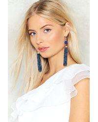 Nasty Gal - Blue Drop In Tassel Earrings - Lyst