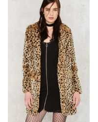 Nasty Gal | Multicolor Spot The Difference Faux Fur Leopard Coat | Lyst