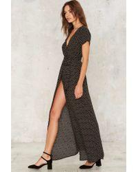 Nasty Gal - Black Elysian Wrap Dress - Lyst