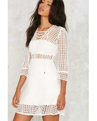 Nasty Gal - White Miranda Crochet Dress - Lyst