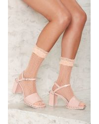 Nasty Gal - Natural Have Your Frill Sheer Socks - Lyst