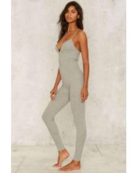 Lavish Alice - Gray Touch Me In The Morning Knit Catsuit - Lyst