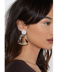 Nasty Gal - Brown Hear Me Out Tortoiseshell Earrings - Lyst