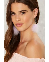 Nasty Gal - Puff You Forever Earrings - Purple - Lyst
