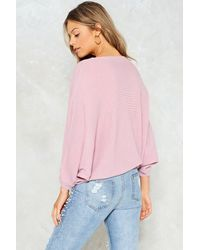 Nasty Gal - Purple Just Wing It Oversized Sweater Just Wing It Oversized Sweater - Lyst