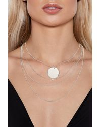 Nasty Gal - Metallic See You Around Layered Necklace - Lyst