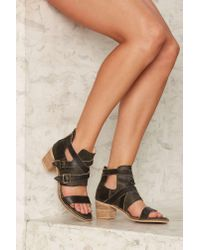 Nasty Gal | Black Kelsi Dagger Grant Leather Heel | Lyst