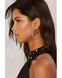 Nasty Gal - Metallic Tasha Pavã© Hoop Earrings - Lyst