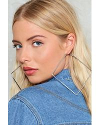 Nasty Gal - Metallic Hip To Be Square Earrings - Lyst