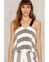 Nasty Gal | Multicolor All The Stripe Moves Crop Top | Lyst