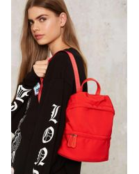Nasty Gal | Nylon And On Mini Backpack - Red | Lyst