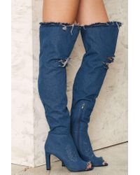 Jeffrey Campbell | Blue Renown Over-the-knee Denim Boot | Lyst