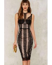 Nasty Gal | Black Dirty Love Lace Dress | Lyst