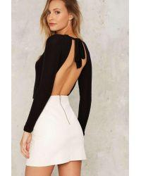 Nasty Gal | Black Lna Charlotte Ribbed Bodysuit | Lyst